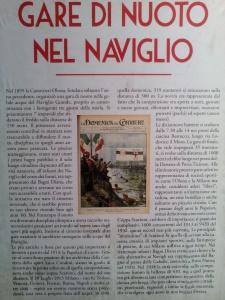 Gare di nuoto nelle gelide acque del Naviglio (1895) organizzate dalla Canottieri Olona.