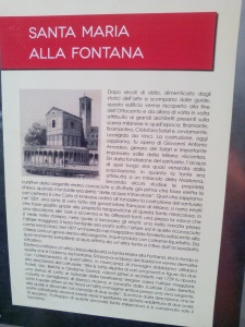 S.Maria alla Fontana oggi Piazza Fontana